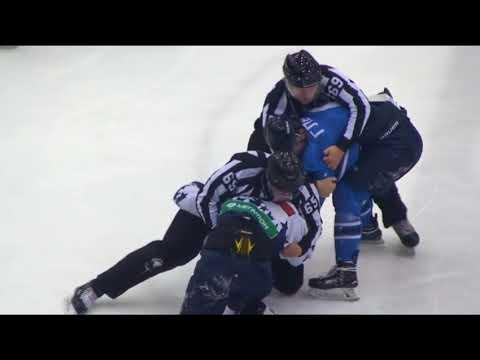 Хоккей Драка Глебов vs Горбунов ВХЛ 24.12.2017
