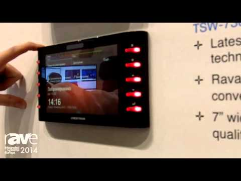 ISE 2014: Crestron Exhibits Its Range of Scheduling Panels