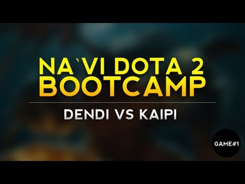 Dendi vs Kaipi game 1 @ live VOD from bootcamp