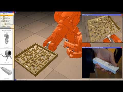 Robotics Simulation: Interaction with Industrial Robot through Wiimote