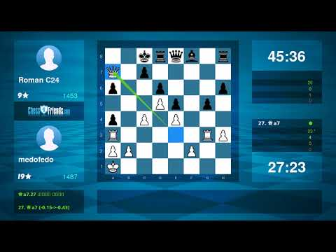 Chess Game Analysis: medofedo Roman C24 : 01 (By ChessFriends.com)