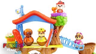 Learning Colors Video for Kids - Paw Patrol Skye & Chase Weebles Treehouse Playground