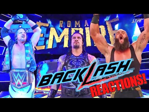 WWE BACKLASH 2018 REACTIONS RESULTS AND REVIEW! WORST PPV OF THE YEAR?