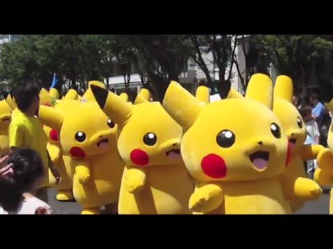 Pikachu Parade in Yokohama, Japan