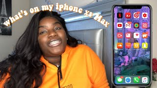 WHATS ON MY IPHONE XS MAX + apps i use! 2019