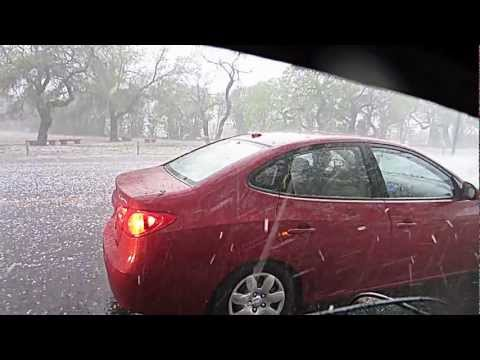 Awesome Hail Storm in San Antonio Texas Easter Day 2013