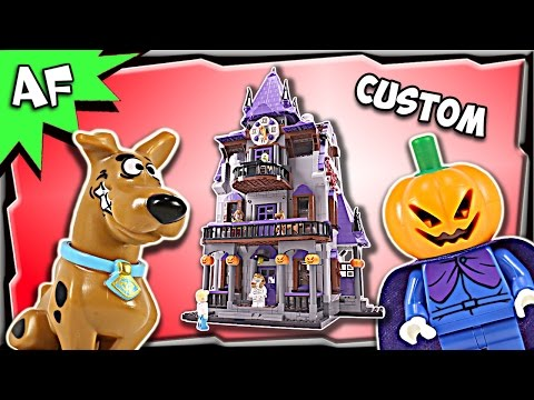 Custom Lego Scooby Doo HAUNTED HOUSE 75904 + 10228 MOC Stop Motion Build Review