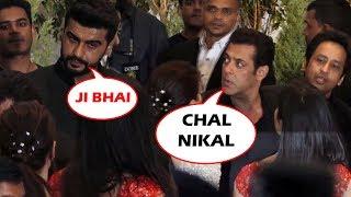 Salman Khan IGNORED Arjun Kapoor AT Sonam's Wedding Party