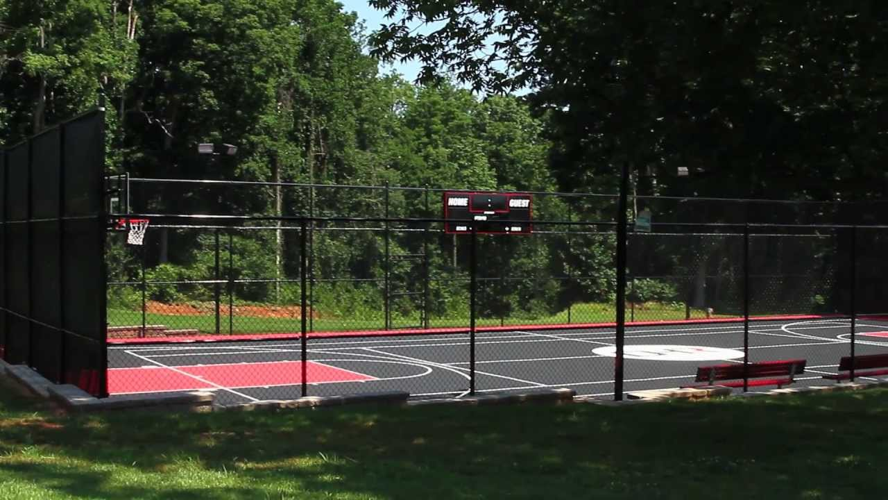 Denny hamlin 39 s personal basketball court ultimate courts for Personal basketball court