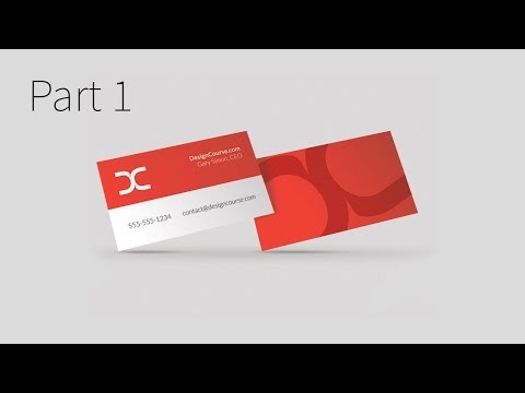 Modern Business Card Design in Illustrator CC (Part 1)