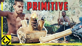 3 Days Building a Working Wooden Engine (Primitive Style)