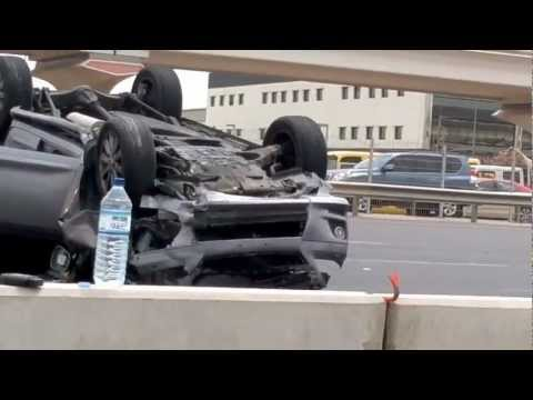 Sheikh Zayed Road Dubai Accident 10 September 2012