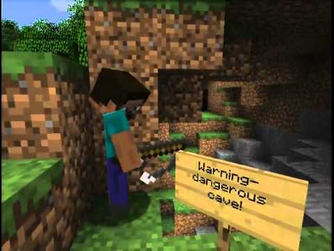 Minecraft: Creeper Chases Steve into the Real World! - YouTube