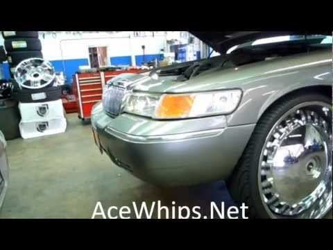 "Arctic Customs- Mercury Grand Marquis on 28"" DUB Opera Floaters"