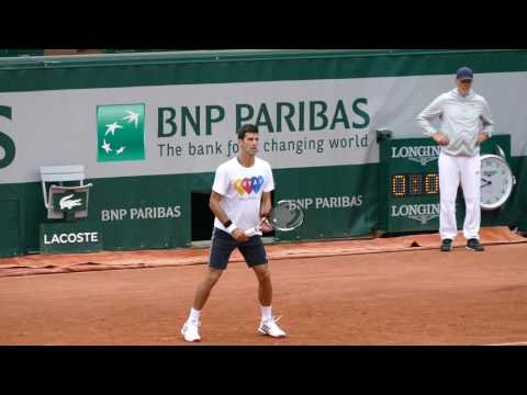 Novak Djokovic - First practice session