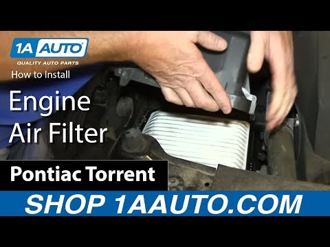 How To Install Replace Engine Air Filter 3.6L Pontiac Torrent Chevy Equinox