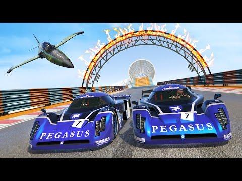 GTA 5 Online - NEW EPIC CUNNING STUNTS DLC STUNT RACES!! (GTA 5 DLC Gameplay)