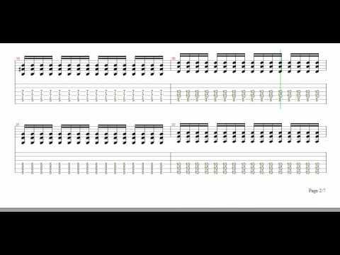 Chevelle - Letter From A Thief (partitura de la guitarra de Pete Loeffler)