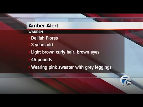 AMBER ALERT issued for 3-year-old girl from Warren, last seen with mother's ex-boyfriend