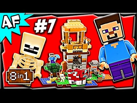 Lego Minecraft 21116 CRAFTING BOX Build #7 Animated Stop Motion Review