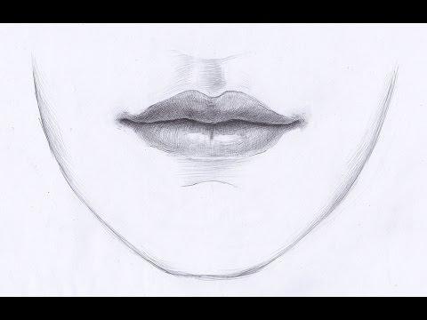 Видео как нарисовать губы человека карандашом поэтапно