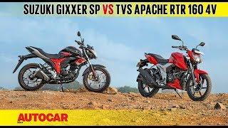 Suzuki Gixxer SP vs TVS Apache RTR 160 4V   Comparison Test   Autocar India