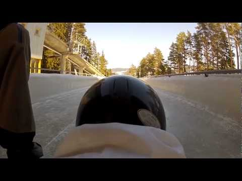 Me trying skeleton in the Olympic Bobsleigh- and Lugetrack in Lillehammer, Norway