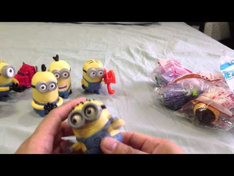 Despicable Me 2 McDonalds Happy Meal Toys