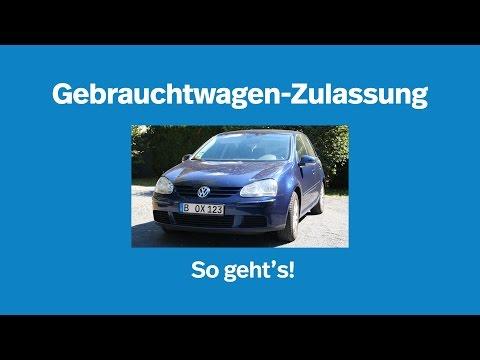 Gebrauchtwagen-Zulassung: so geht's I Kennzeichenbox.de