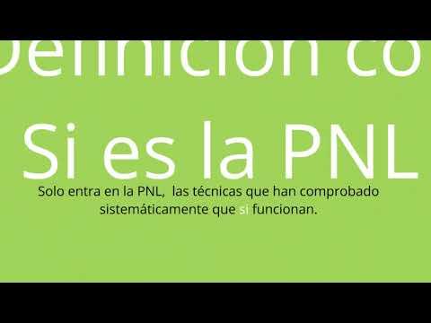¿qué es la PNL de verdad? (Wiki PNL) Definición de la PNL