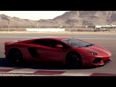Driving A Lamborghini Aventador and Drifting in a Corvette