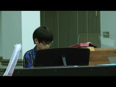 Ethan and Lin Playing Piano at West Bay Christian Academy Christmas Concert - 12/17/2013