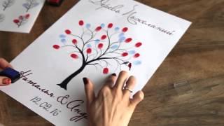 Пожелания с отпечатками пальцев