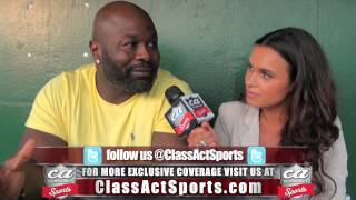 Hugh Douglas Interview w/ Joy Taylor of Class Act Sports at LeSean McCoy's Charity Softball Game