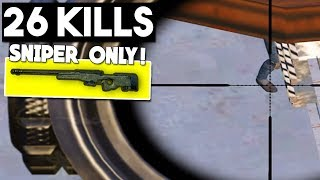 SNIPER ONLY CHALLENGE! | 26 KILLS | PUBG Mobile