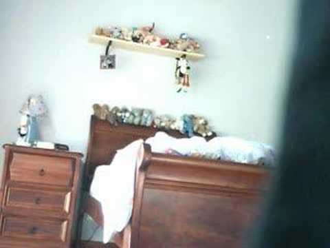 Little sister goes mad at hidden video camera