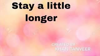 Stay a little longer with me | Half Girlfriend | Lyrical video | K Tanveer