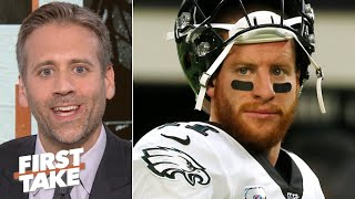 Carson Wentz was terrible in the Eagles' loss vs. the Vikings - Max Kellerman | First Take