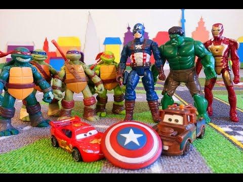 Тачки Маквин Мэтр и щит Капитана Америка Мстители McQueen Cars Avengers
