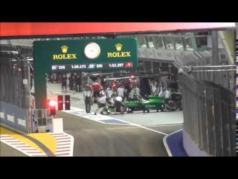 GP F1 Singapour 2014 - Qualifications - Tribune Turn 2