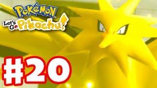 Legendary Pokemon Zapdos! - Pokemon Let's Go Pikachu and Eevee - Gameplay Walkthrough Part 20