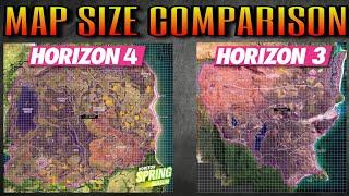 Map Size Comparison | Forza Horizon 4 vs Horizon 3 | In-depth analysis!