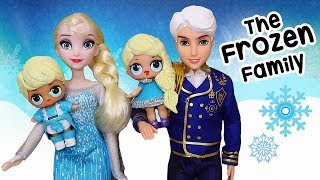 SWTAD LOL Families ! The Frozen Family with Rascal Brother | Toys and Dolls Pretend Play for Kids