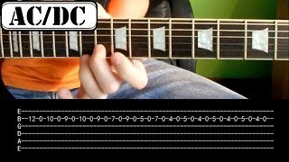AC/DC Video - Jak zagrać - AC/DC - Thunderstruck - Riff - Lekcja na gitarze HD