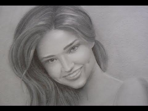 Retrato de Miranda Kerr - Cómo hacer un retrato con sonrisa y dientes
