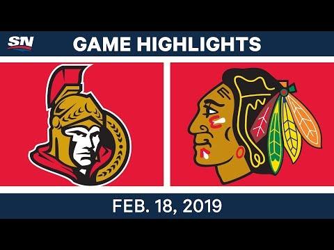 NHL Highlights  Senators vs. Blackhawks - Feb 18, 2019