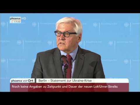 Ukraine-Krise: Statement von Frank-Walter Steinmeier am 18.02.2015