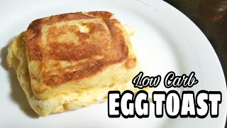 Low Carb LC One Pan Egg Toast Keto Easy Recipe LCIF Philippines Association | Misis B's Cube