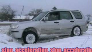 Subaru Forester: super diagonal test 5. With stop and acceleration