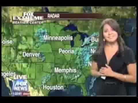 Fox News: Weathercaster Loses Microphone Down Her Blouse